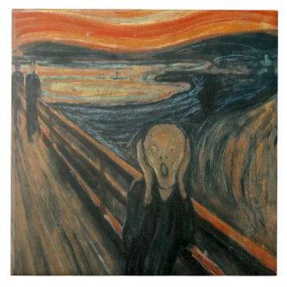 El grito de Edvard Munch Azulejo Cuadrado Grande
