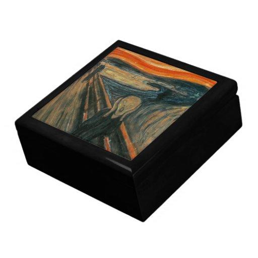 El grito de Edvard Munch Cajas De Joyas