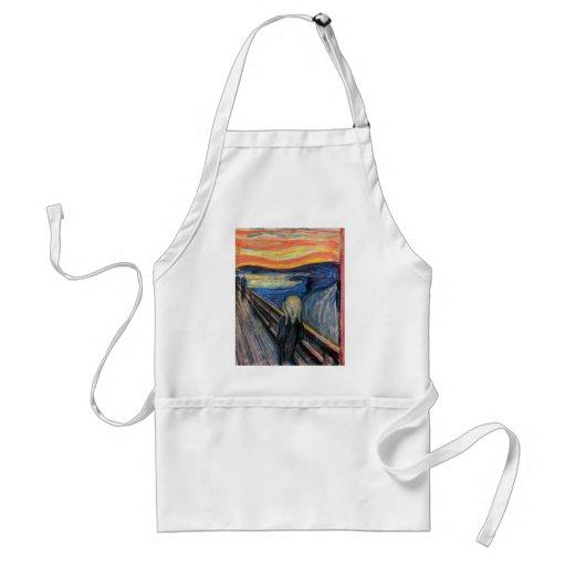 El grito de Edvard Munch Delantal