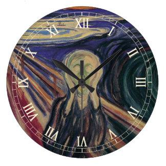 El grito de Edvard Munch, expresionismo del Reloj De Pared