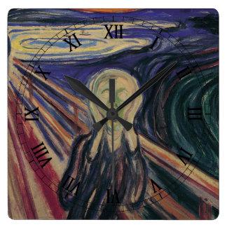 El grito de Edvard Munch, expresionismo del Relojes