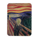 El grito de Edvard Munch, expresionismo del vintag Imán De Vinilo
