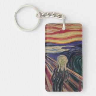 El grito de Edvard Munch, expresionismo del vintag Llaveros