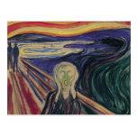 El grito de Edvard Munch, expresionismo del vintag Tarjeta Postal