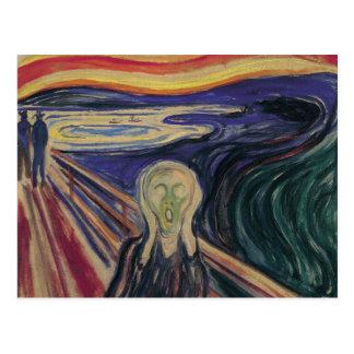 El grito de Edvard Munch expresionismo del vintag Tarjeta Postal
