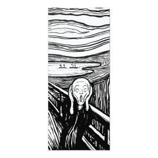 """El grito de Edvard Munch Invitación 4"""" X 9.25"""""""