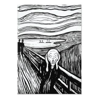 """El grito de Edvard Munch Invitación 5"""" X 7"""""""