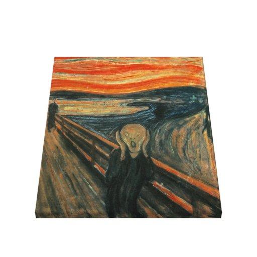 El grito de Edvard Munch Lienzo Envuelto Para Galerias
