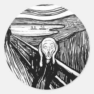 El grito de Edvard Munch Pegatinas Redondas