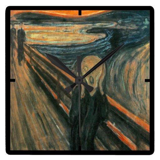 El grito de Edvard Munch Reloj De Pared
