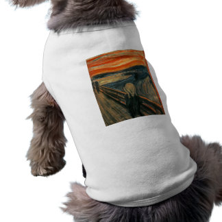 El grito de Edvard Munch Playera Sin Mangas Para Perro