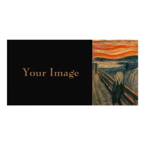 El grito de Edvard Munch Tarjeta Fotografica Personalizada