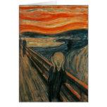 El grito de Edvard Munch Tarjeta De Felicitación