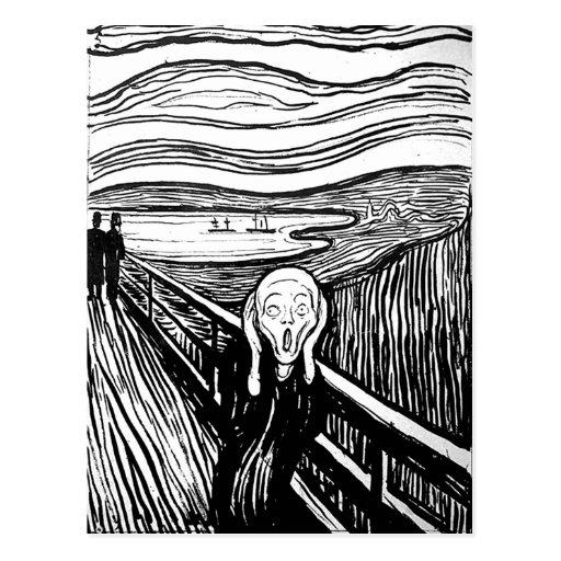 El grito de Edvard Munch Tarjetas Postales