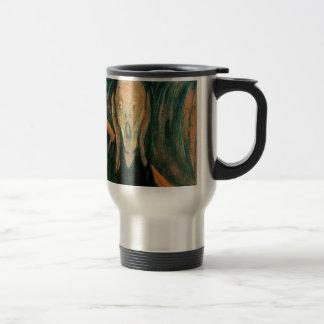 El grito de Edvard Munch Taza De Viaje De Acero Inoxidable