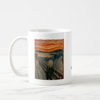 El grito de Edvard Munch Taza Básica Blanca