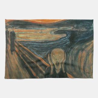 El grito de Edvard Munch Toalla De Cocina