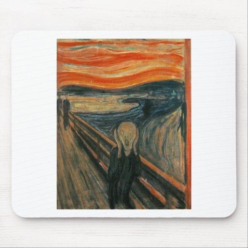 El grito - Edvard Munch 1893 Tapete De Raton