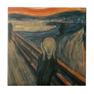 El grito - Edvard Munch Azulejo Cuadrado Pequeño