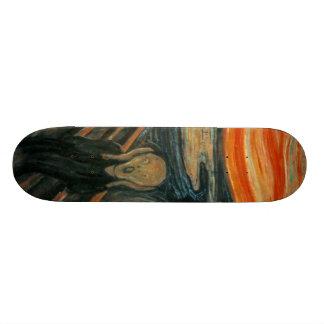 El grito - Edvard Munch Patineta Personalizada