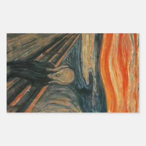 El grito - Edvard Munch Pegatina Rectangular