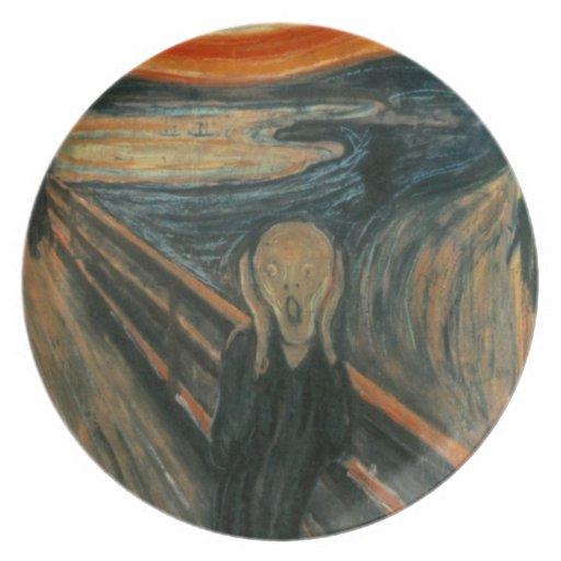 El grito - Edvard Munch Plato De Comida