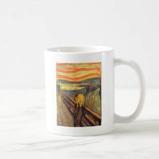 El grito - Edvard Munch Taza Básica Blanca
