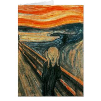 El grito Edward masca el griterío Tarjeta De Felicitación