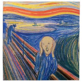 El grito por el arte moderno de Edvard Munch (en Servilletas Imprimidas