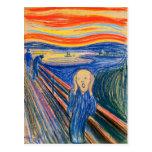 El grito por la postal de Edvard Munch (en pastel)