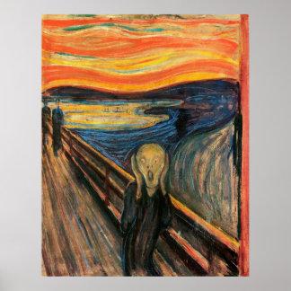 El grito - poster del arte de la reproducción
