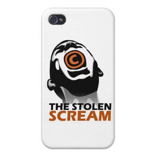 El grito robado iPhone 4 protector