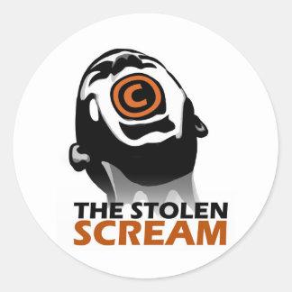 El grito robado pegatina redonda