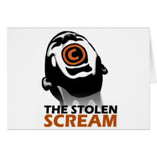 El grito robado tarjeta de felicitación