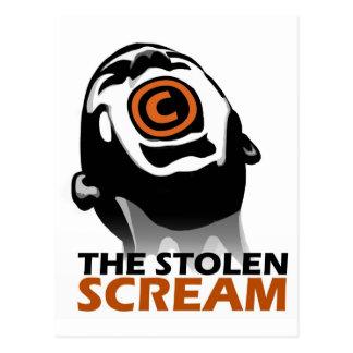 El grito robado tarjeta postal