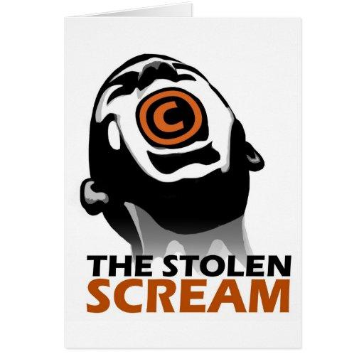 El grito robado tarjeton