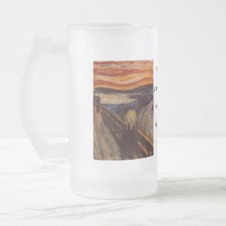 El grito taza de cristal