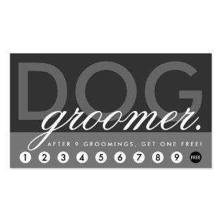 el groomer del perro recompensa programa tarjetas de visita