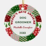 El Groomer más impresionante del perro 2014 o Adorno De Navidad