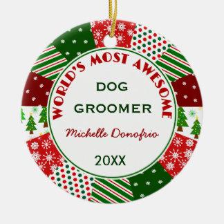 El Groomer más impresionante del perro 2015 o Adorno Redondo De Cerámica
