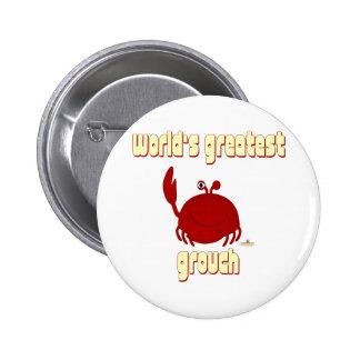 El Grouch más grande del mundo rojo sonriente del  Pins