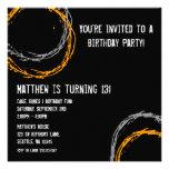 El Grunge anaranjado y gris circunda a la fiesta d Invitaciones Personalizada