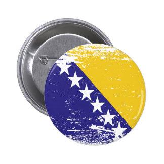 El Grunge Bosnia y Herzegovina señala por medio de Pin Redondo De 2 Pulgadas