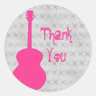 El Grunge de la guitarra de las rosas fuertes le Etiqueta Redonda
