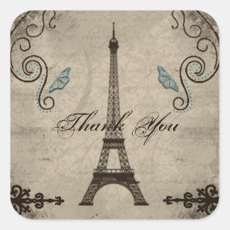 El Grunge de la torre Eiffel le agradece pegatina