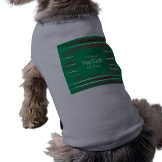 El Grunge de Navidad raya la camiseta verde del pe Playera Sin Mangas Para Perro
