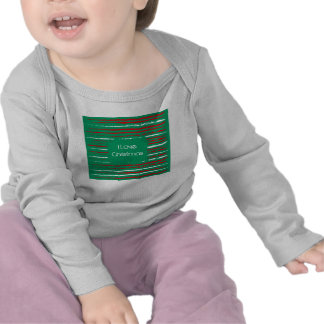 El Grunge de Navidad raya la manga larga infantil Camisetas