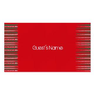 El Grunge de Navidad raya la tarjeta roja del luga Plantilla De Tarjeta De Visita