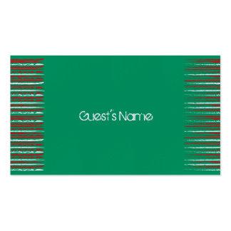 El Grunge de Navidad raya la tarjeta verde del lug Tarjeta De Visita
