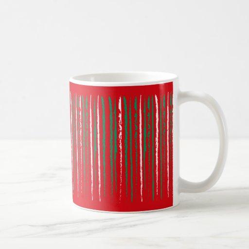 El Grunge de Navidad raya la taza roja